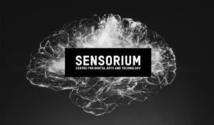 image of the word Sensorium superimposed over a representation of the human brain