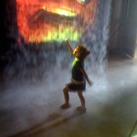 screen shot image of a little girl and some special effects